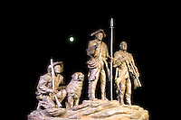 "This Lewis and Clark sculpture ""Explorers at the Portage"" by Robert M. Scrivor has both Captains, York and Lewis's dog Seaman, can be found in Great Falls, Montana."
