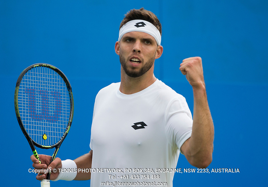 JIRI VESELY (CZE)<br /> <br /> TENNIS - AEGON CHAMPIONSHIPS - QUEENS - ATP - ATP500 - CHAMPIONSHIPS-GRASS - LONDON - UNITED KINGDOM - 2016  <br /> <br /> <br /> <br /> &copy; TENNIS PHOTO NETWORK