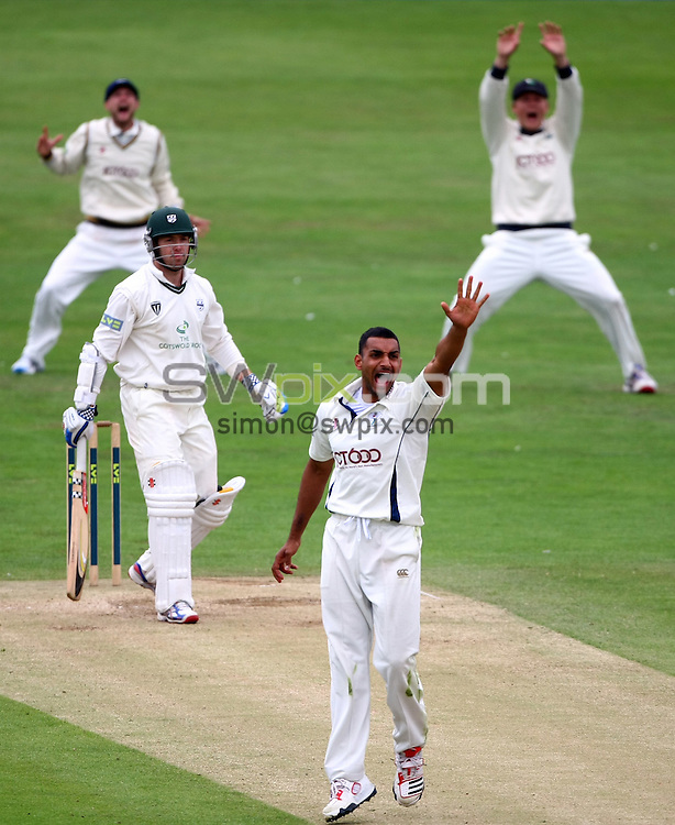 PICTURE BY VAUGHN RIDLEY/SWPIX.COM...Cricket - County Championship - Yorkshire v Worcestershire, Day 3 - North Marine Road, Scarborough, England - 13/07/11...Yorkshire's Ajmal Shahzad appeals.