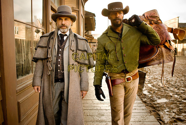 CHRISTOPH WALTZ & JAMIE FOXX.in Django Unchained (2012).*Filmstill - Editorial Use Only*.CAP/FB.Supplied by Capital Pictures.
