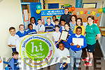 On Wednesday June 19th, CBS school, Clounalour, Tralee, received a Health Promoting flag from the HSE for their efforts in promoting a healthy life style, pictured with the pupils are, back centre to Rt, George Bastible, RINKA, Patricia Sharpe&Dara Quirke, CBS teachers with Ciara Griffin, CBS teacher and captain of the Irish rugby team.