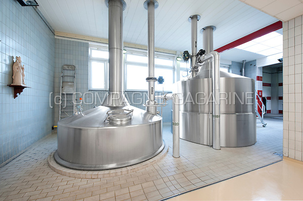 Impressions of the production centre of the brewery concern Alken-Maes in Alken (Belgium, 01/08/2014)