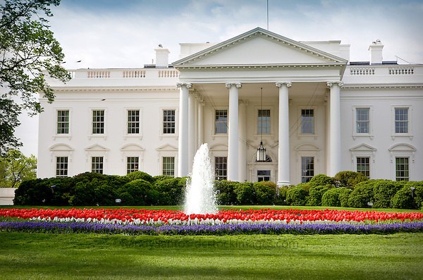 White House Washington DC.Washington DC Stock Photography The White House Washington DC<br /> The White House is the official residence and principal workplace of the President of the United States. Located at 1600 Pennsylvania Avenue NW in Washington, D.C. The White House Complex includes the Executive Residence, the West Wing (the location of the Oval Office, Cabinet Room, and Roosevelt Room), and the East Wing. Lafayette Park is located across Pennsylvania Avenue. A national icon and popular tourist attraction in Washington DC.