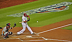 12 October 2012: Washington Nationals shortstop Ian Desmond in action during Postseason Playoff Game 5 of the National League Divisional Series against the St. Louis Cardinals at Nationals Park in Washington, DC. The Cardinals stunned the home team with a four-run rally in the 9th inning to defeat the Nationals 9-7 and win the NLDS, moving on to the NL Championship Series. Mandatory Credit: Ed Wolfstein Photo