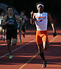 Rashad Teachey of Malverne legs out a victory in the Division 2 boys 400 meter race during Day 1 of the Nassau County track & field individual championships and state qualifiers at North Shore High School in Glen Head on Wednesday, May 30, 2018.