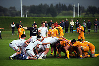 A scrum sets during the rugby match between  New Zealand Schools Barbarians and NZ Maori Under-18 at the Sport and Rugby Institute in Palmerston North, New Zealand on Monday, 2 October 2017. Photo: Dave Lintott / lintottphoto.co.nz
