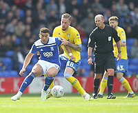 Leeds United's Pontus Jansson in action with Birmingham City's Che Adams<br /> <br /> Photographer Mick Walker/CameraSport<br /> <br /> The EFL Sky Bet Championship - Birmingham City v Leeds United - Saturday 6th April 2019 - St Andrew's - Birmingham<br /> <br /> World Copyright © 2019 CameraSport. All rights reserved. 43 Linden Ave. Countesthorpe. Leicester. England. LE8 5PG - Tel: +44 (0) 116 277 4147 - admin@camerasport.com - www.camerasport.com