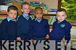 Adam Doherty, Shea Weldon, Sule Coffey and Marc Long who started school in the Two Mile School, Killarney on Monday............