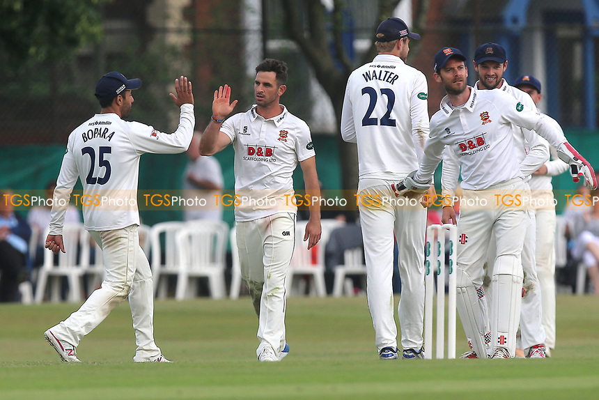 Ryan ten Doeschate of Essex celebrates taking the wicket of Dominic Sibley during Surrey CCC vs Essex CCC, Specsavers County Championship Division 1 Cricket at Guildford CC, The Sports Ground on 9th June 2017