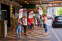 Local 1 Hotel Strike Downtown Chicago Illinois 9-17-18
