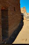 Type IV Masonry Wall and Tower, Una Vida Chacoan Great House, Anasazi Hisatsinom Ancestral Pueblo Site, Chaco Culture National Historical Park, Chaco Canyon, Nageezi, New Mexico