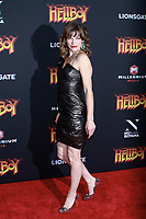 NEW YORK, NY - APRIL 9: Milla Jovovich  at NY Special Screening of HELLBOY at AMC Lincoln Square  on April 9, 2019 in New York City. <br /> CAP/MPI99<br /> ©MPI99/Capital Pictures