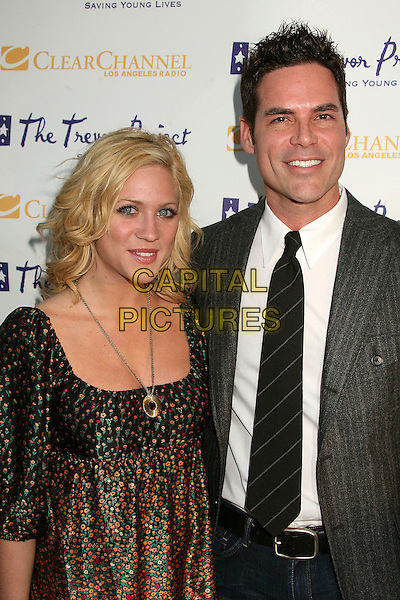 "BRITTANY SNOW & JORGE VALENCIA.The Trevor Project's Cracked Xmas 9 ""Mistletoe, Mischief & Myrrh!"" at the Wiltern LG, Los Angeles, California, USA, 03 December 2006..half length.CAP/ADM/BP.©Byron Purvis/AdMedia/Capital Pictures."