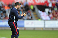 Lee Johnson Manager of Bristol City during the Sky Bet Championship match between Swansea City and Bristol City at the Liberty Stadium, Swansea, Wales, UK. Saturday 25 August 2018