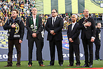06 December 2015: From left: Columbus Crew owner Anthony Precourt, Portland Timbers owner Merritt Paulson, Canada Soccer Association president Victor Montagliani, U.S. Soccer Association president Sunil Gulati, and MLS Commissioner Don Garber. The Columbus Crew SC hosted the Portland Timbers FC at Mapfre Stadium in Columbus, Ohio in MLS Cup 2015, Major League Soccer's championship game. Portland won the game 2-1.
