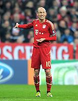 FUSSBALL   CHAMPIONS LEAGUE   SAISON 2011/2012   ACHTELFINALE RUECKSPIEL     13.03.2012 FC Bayern Muenchen - FC Basel        Arjen Robben (FC Bayern Muenchen)