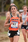 November 1, 2014; Sunnyvale, CA, USA; Pacific Tigers runner Mia Knipper (41) competes during the WCC Cross Country Championships at Baylands Park.