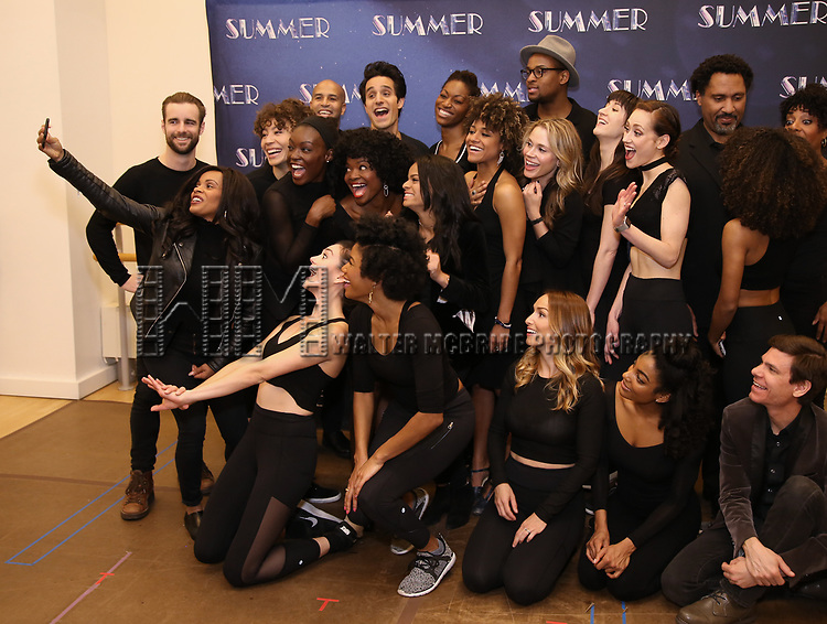 "LaChanze, Storm Lever and Ariana DeBose with the cast attend the Meet & Greet for ""Summer: The Donna Summer Musical"" on March 8, 2018 at the New 42nd Street Studios,  in New York City."