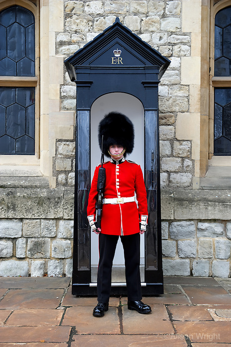 The Tower of London, bearskin guard