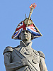 """NEW HATS FOR FAMOUS LONDON STATUES_LORD NELSON HAT that incldes a Union Jack and Olympic Flame by Lock & Co and Sylvia Feltcher.In a latest creative project to celebrate the 2012 Olympics, several of London's famous statutes have been given hats. """"Hatwalk"""" as it is termed is the brainschild of milliners Philip Treacy and Steven Jones_30/07/2012.Mandatory Credit Photo: ©Butler/NEWSPIX INTERNATIONAL..**ALL FEES PAYABLE TO: """"NEWSPIX INTERNATIONAL""""**..IMMEDIATE CONFIRMATION OF USAGE REQUIRED:.Newspix International, 31 Chinnery Hill, Bishop's Stortford, ENGLAND CM23 3PS.Tel:+441279 324672  ; Fax: +441279656877.Mobile:  07775681153.e-mail: info@newspixinternational.co.uk"""