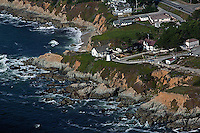 aerial photograph Point Montara Lighthouse, San Mateo County, California