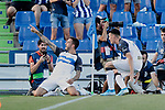 Jose Luis Mato 'Joselu' Deportivo Alaves celebrates goal during La Liga match between Getafe CF and Deportivo Alaves at Colisseum Alfonso Perez in Getafe, Spain. August 31, 2019. (ALTERPHOTOS/A. Perez Meca)
