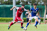 Marcos De La Espada of Kwoon Chung Southern (L) fights for the ball with Siu Kwan Cheng of Rangers (R) during the Premier League, week two match between Kwoon Chung Southern and BC Rangers at on September 09, 2017 in Hong Kong, China. Photo by Marcio Rodrigo Machado / Power Sport Images