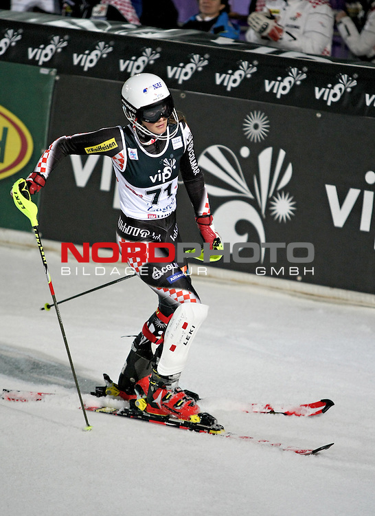 04.01.2013., Sljeme, Zagreb - Utrka najboljih slalomasica na devetom izdanju Snjezne kraljice. <br /> Andrea Komsic. <br /> <br /> Foto &copy;  nph / PIXSELL / Marko Prpic