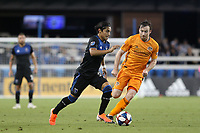 SAN JOSE, CA - JUNE 26: Gilbert Fuentes #35 during a Major League Soccer (MLS) match between the San Jose Earthquakes and the Houston Dynamo on June 26, 2019 at Avaya Stadium in San Jose, California.