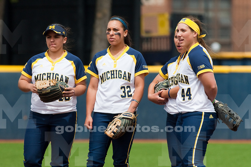 The University of Michigan softball team lost to Wisconsin, 6-5, in nine innings on Senior Day at Alumni Field in Ann Arbor on May 4, 2014.