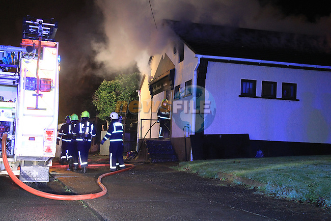 Two units of Drogheda fire service backed up by two fire units from Dunleer attended a fire in Kierans craft butchers in Greenbatter, drogheda after 11pm on Wednesday night. the scene remained sealed off..Picture: Fran Caffrey/www.newsfile.ie.