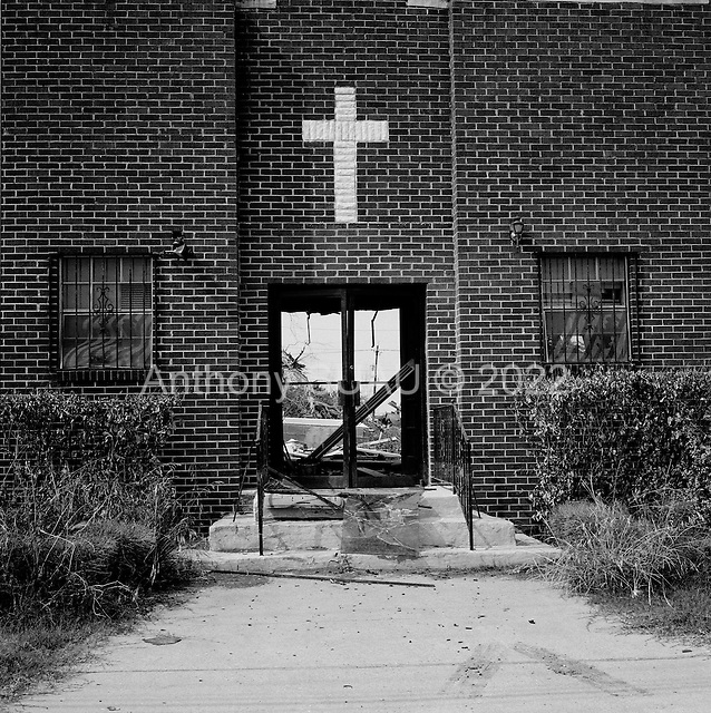 New Orleans, Louisiana.May 30, 2006..The front is all that remains of a church in the lower ninth ward.
