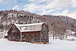 Winter at the Howe farms in Tunbridge, VT, USA