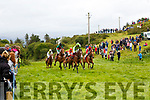 Action from the start of the Iveragh Plate at the Cahersiveen Races on Saturday.