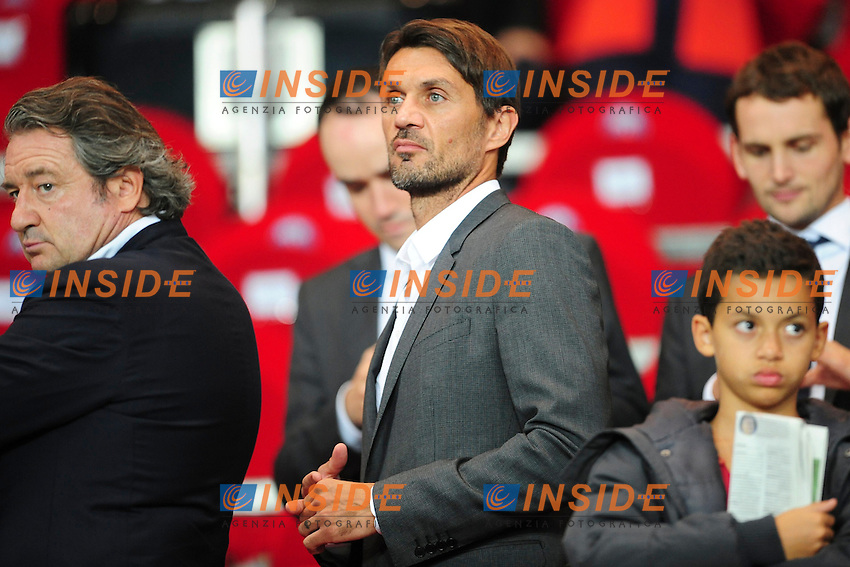 Paolo Maldini <br /> Parigi 2/10/2013 <br /> Football 2013/2014 Champions League<br /> Paris Saint Germain Benfica <br /> JB Autissier Panoramic / Insidefoto <br /> ITALY ONLY