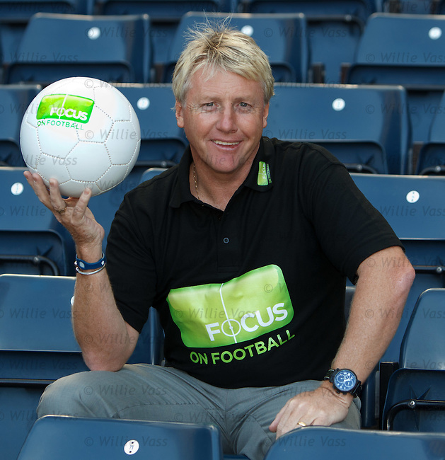 Old Firm star Frank McAvennie with the Focus on Football initiative at Hampden
