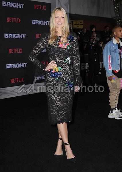 "13 December  2017 - Westwood, California - Molly Sims. Netflix's ""Bright"" Los Angeles Premiere held at Regency Village Theatre in Westwood. Photo Credit: Birdie Thompson/AdMedia"