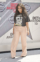 LOS ANGELES, CA - JUNE 26: BiBi Bourelly at the 2016 BET Awards at the Microsoft Theater on June 26, 2016 in Los Angeles, California. Credit: Koi Sojer/MediaPunch
