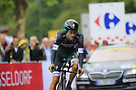 Emanuel Buchmann (GER) Bora-Hansgrohe in action during Stage 1, a 14km individual time trial around Dusseldorf, of the 104th edition of the Tour de France 2017, Dusseldorf, Germany. 1st July 2017.<br /> Picture: Eoin Clarke | Cyclefile<br /> <br /> <br /> All photos usage must carry mandatory copyright credit (&copy; Cyclefile | Eoin Clarke)