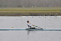 079 EveshamRC J17A.1x..Marlow Regatta Committee Thames Valley Trial Head. 1900m at Dorney Lake/Eton College Rowing Centre, Dorney, Buckinghamshire. Sunday 29 January 2012. Run over three divisions.
