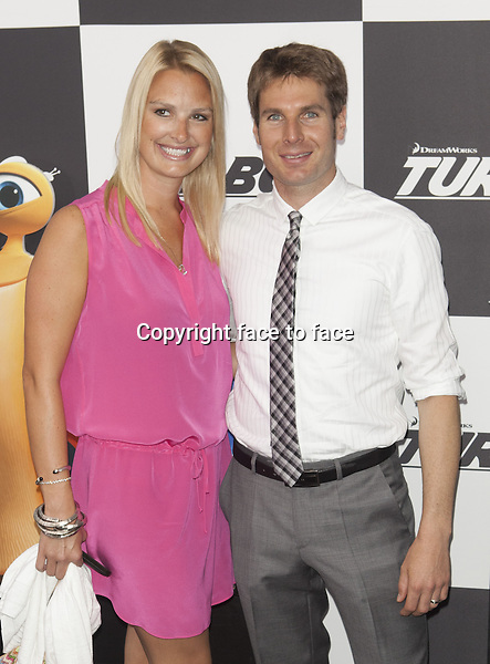 NEW YORK, NY - JULY 9: Will Power and Elizabeth Power attend the 'Turbo' premiere at AMC Loews Lincoln Square on July 9, 2013 in New York City.<br />