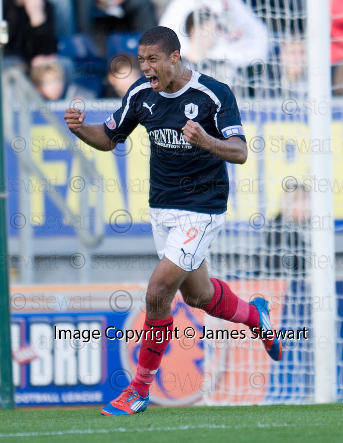 Falkirk's Lyle Taylor celebrates after he scores Falkirk's first goal  ...