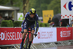 Damien Howson (AUS) Orica-Scott in action during Stage 1, a 14km individual time trial around Dusseldorf, of the 104th edition of the Tour de France 2017, Dusseldorf, Germany. 1st July 2017.<br /> Picture: Eoin Clarke | Cyclefile<br /> <br /> <br /> All photos usage must carry mandatory copyright credit (&copy; Cyclefile | Eoin Clarke)