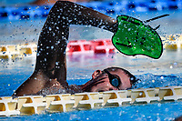 Alessio Proietti Colonna swims during a training session.  <br /> Italian athletes were able to resume training last week after more than 50 days of lockdown due to the coronavirus (covid-19) pandemic <br /> Roma 12-5-2020 Centro Federale di Ostia <br /> Photo Andrea Staccioli / Deepbluemedia / Insidefoto