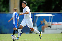2 October 2011:  FIU defender Christian Melean (6) moves the ball upfield in the first half as the FIU Golden Panthers defeated the University of Kentucky Wildcats, 1-0 in overtime, at University Park Stadium in Miami, Florida.