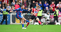 Sunderland's Aidan McGeady under pressure from Lincoln City's Jake Hesketh<br /> <br /> Photographer Chris Vaughan/CameraSport<br /> <br /> The EFL Sky Bet League One - Lincoln City v Sunderland - Saturday 5th October 2019 - Sincil Bank - Lincoln<br /> <br /> World Copyright © 2019 CameraSport. All rights reserved. 43 Linden Ave. Countesthorpe. Leicester. England. LE8 5PG - Tel: +44 (0) 116 277 4147 - admin@camerasport.com - www.camerasport.com
