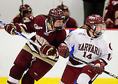 Danielle Welch (BC - 17), Jillian Dempsey (Harvard - 14) - The Harvard University Crimson defeated the Boston College Eagles 5-0 in their Beanpot semi-final game on Tuesday, February 2, 2010 at the Bright Hockey Center in Cambridge, Massachusetts.