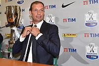 Massimiliano Allegri Juventus <br /> Roma 12-08-2017 Stadio Olimpico <br /> Conferenza Stampa Supercoppa Italiana 2017/2018 <br /> Press Conference Italian Super Cup <br /> Foto Andrea Staccioli Insidefoto