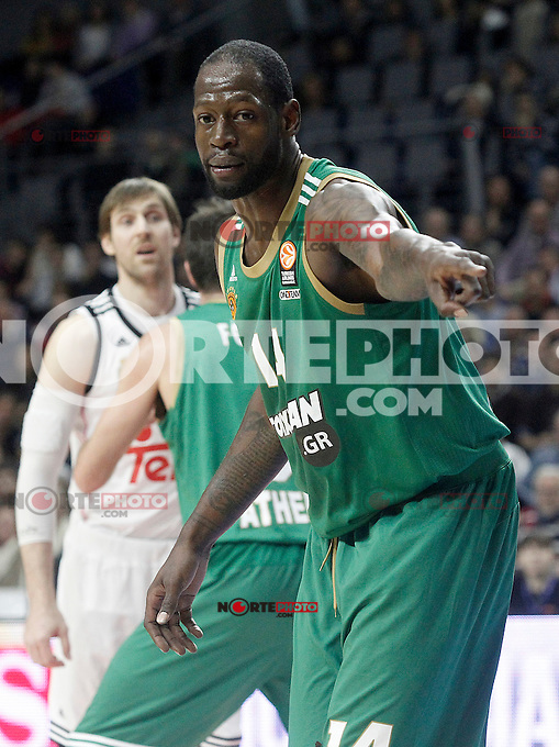 Panathinaikos Athens' James Gist during Euroleague match.January 22,2015. (ALTERPHOTOS/Acero) /NortePhoto<br />