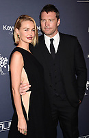 CULVER CITY, CA - NOVEMBER 11: Model Lara Bingle (L) and actor Sam Worthington attend the 2017 Baby2Baby Gala at 3Labs on November 11, 2017 in Culver City, California.<br /> CAP/ROT/TM<br /> &copy;TM/ROT/Capital Pictures
